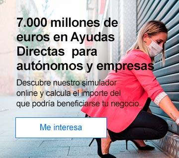 7.000 millones de euros en Ayudas Directas  para autónomos y empresas