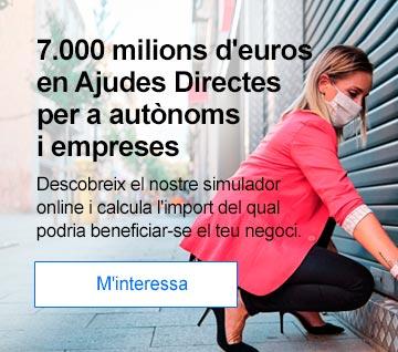 7.000 milions d'euros en Ajudes Directes per a autònoms i empreses